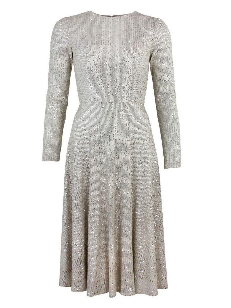 Carla Ruiz Sequin Midi Dress, Champagne, Style 96096
