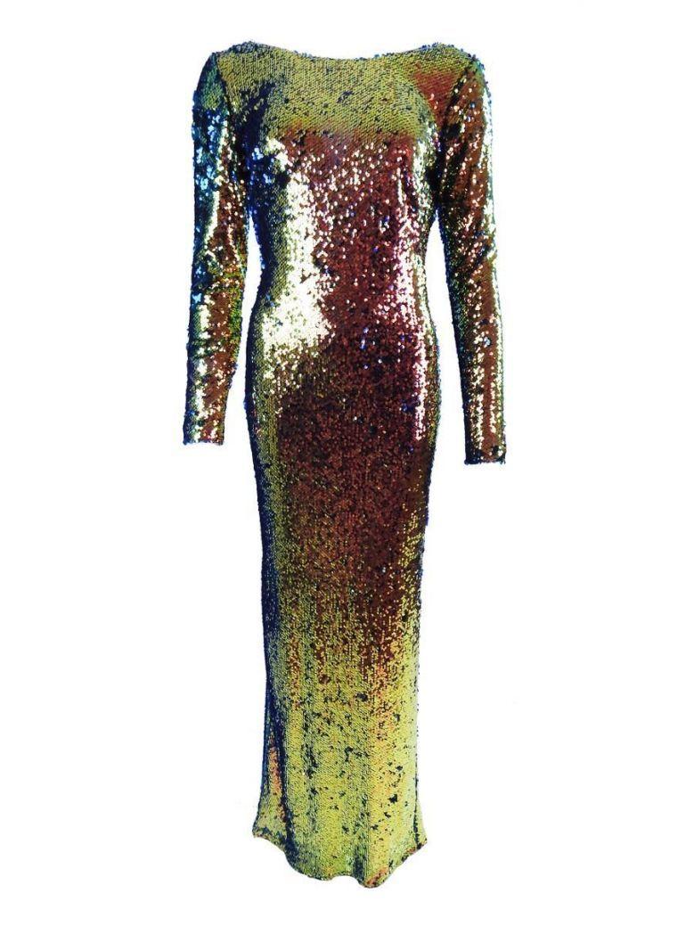 Carla Ruiz Sequin Low Back Evening Dress, Azul Multi, Style 96676