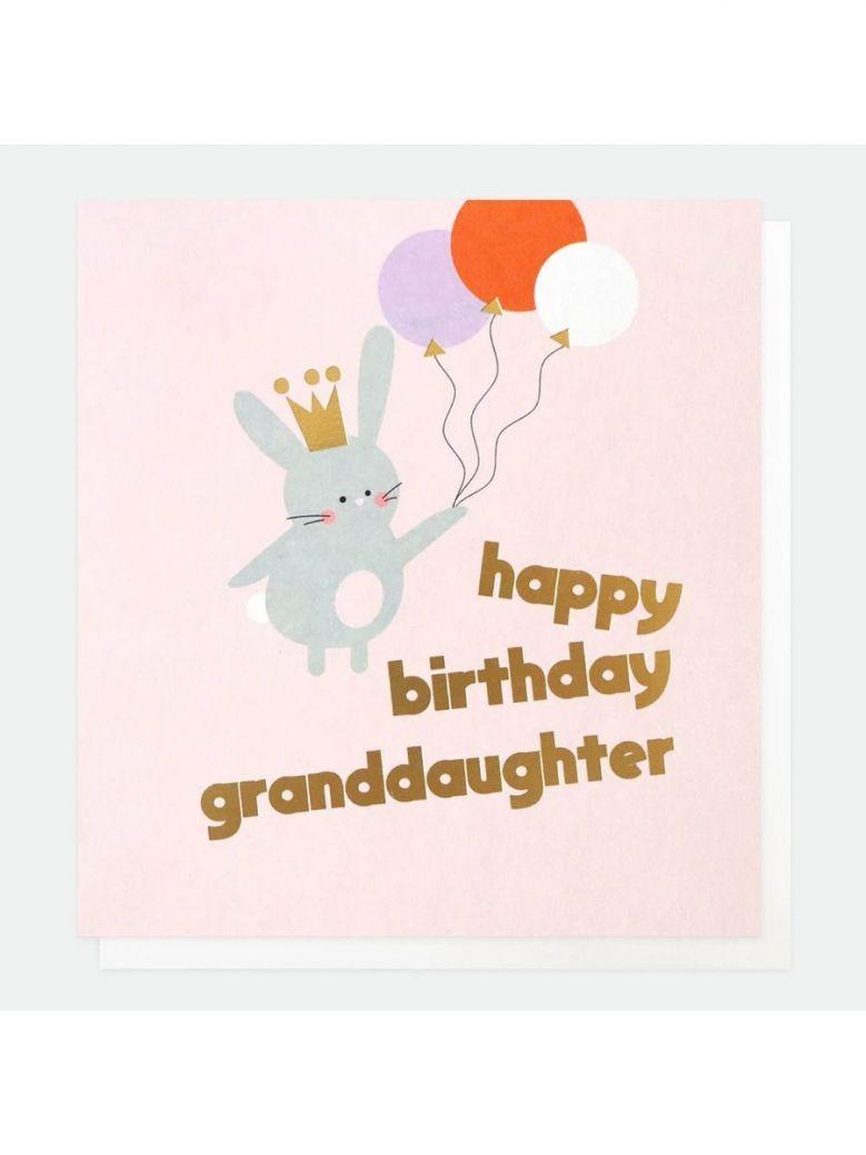 Caroline Gardner Bunny Birthday Card For Granddaughter