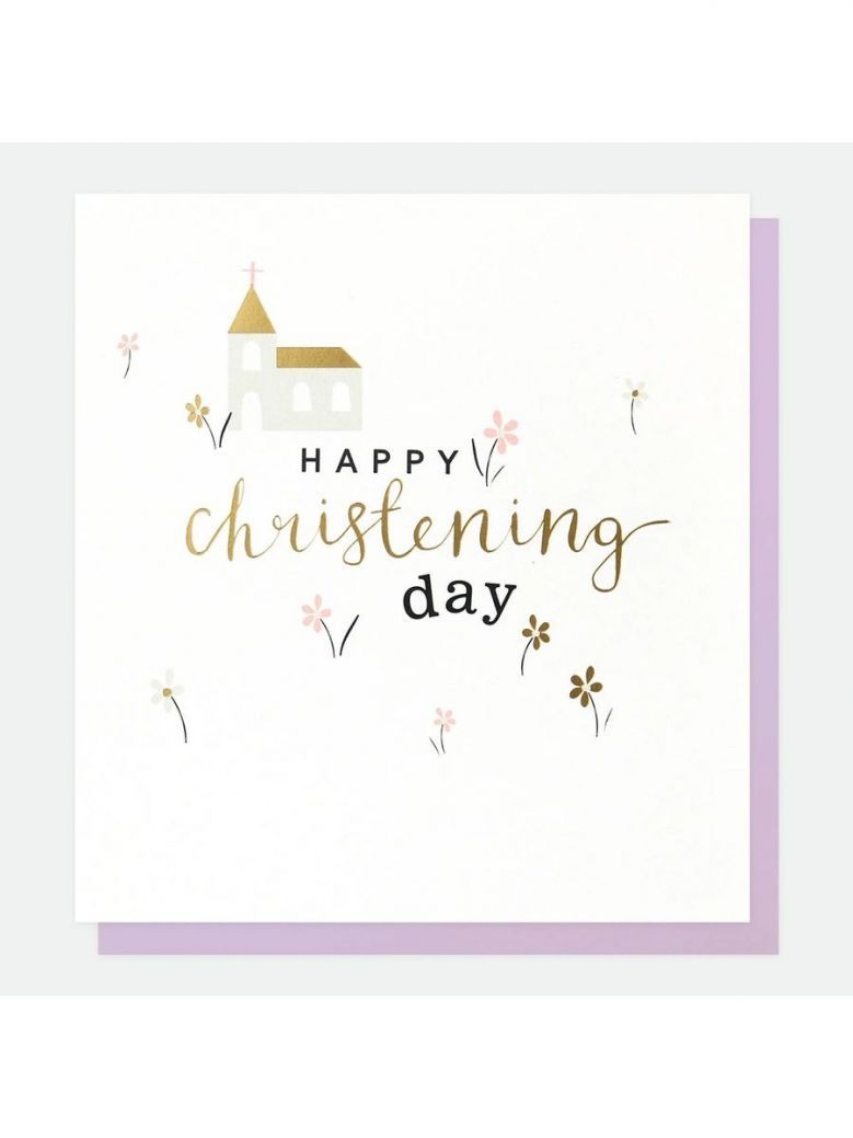 Caroline Gardner Church Christening Card
