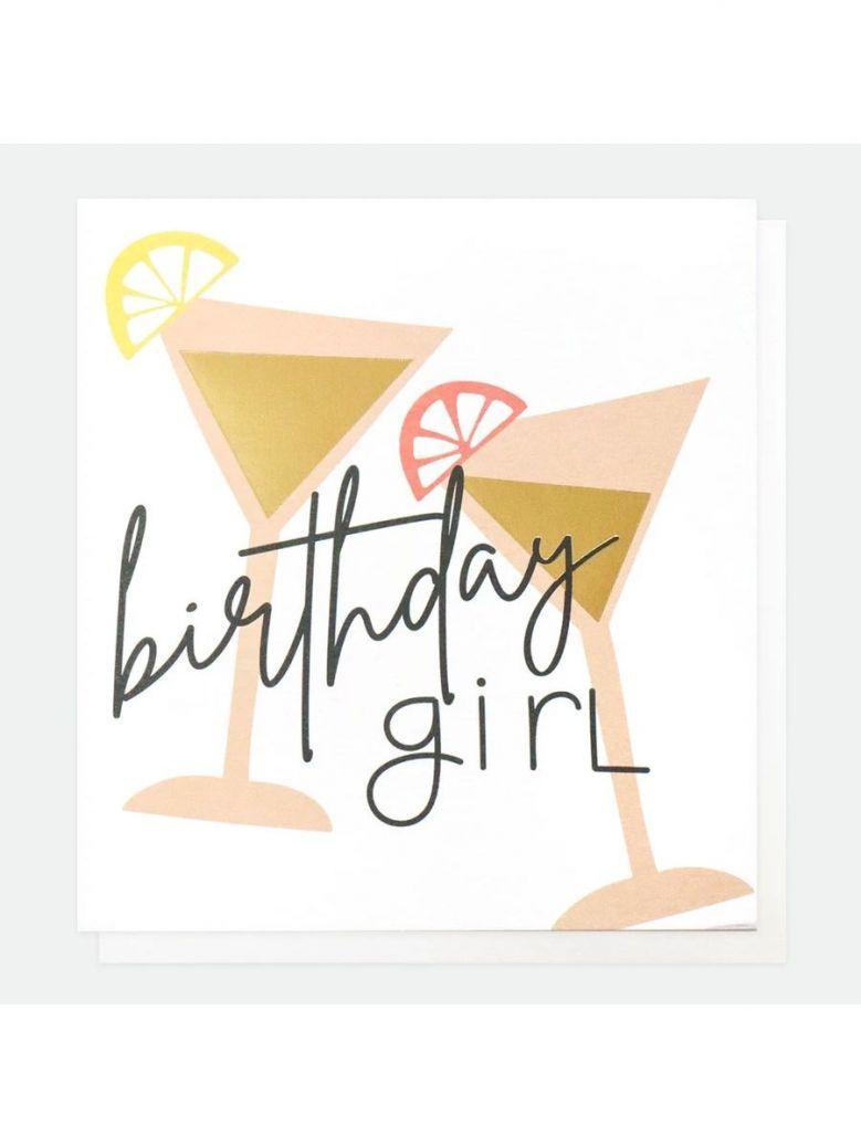 Caroline Gardner Cocktails Birthday Card For Girl