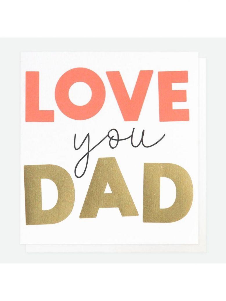 Caroline Gardner Neon Love You Father's Day Card