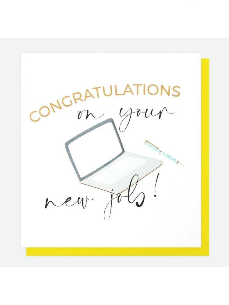 Caroline Gardner New Job Congratulations Card