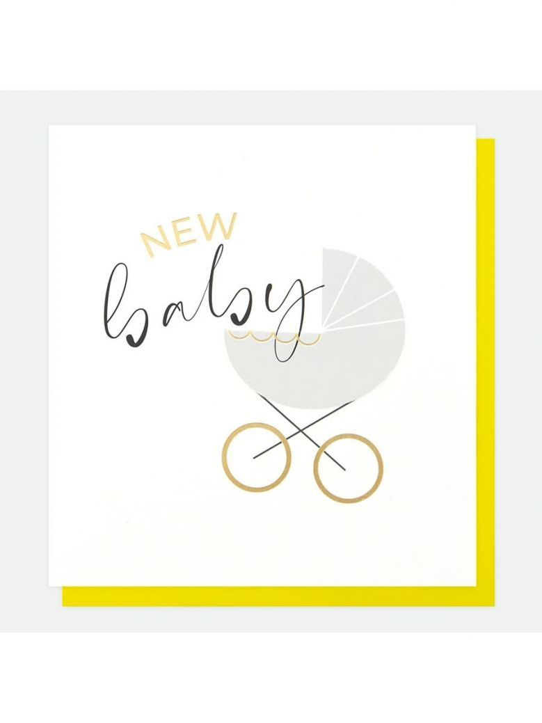 Caroline Gardner Pram New Baby Card