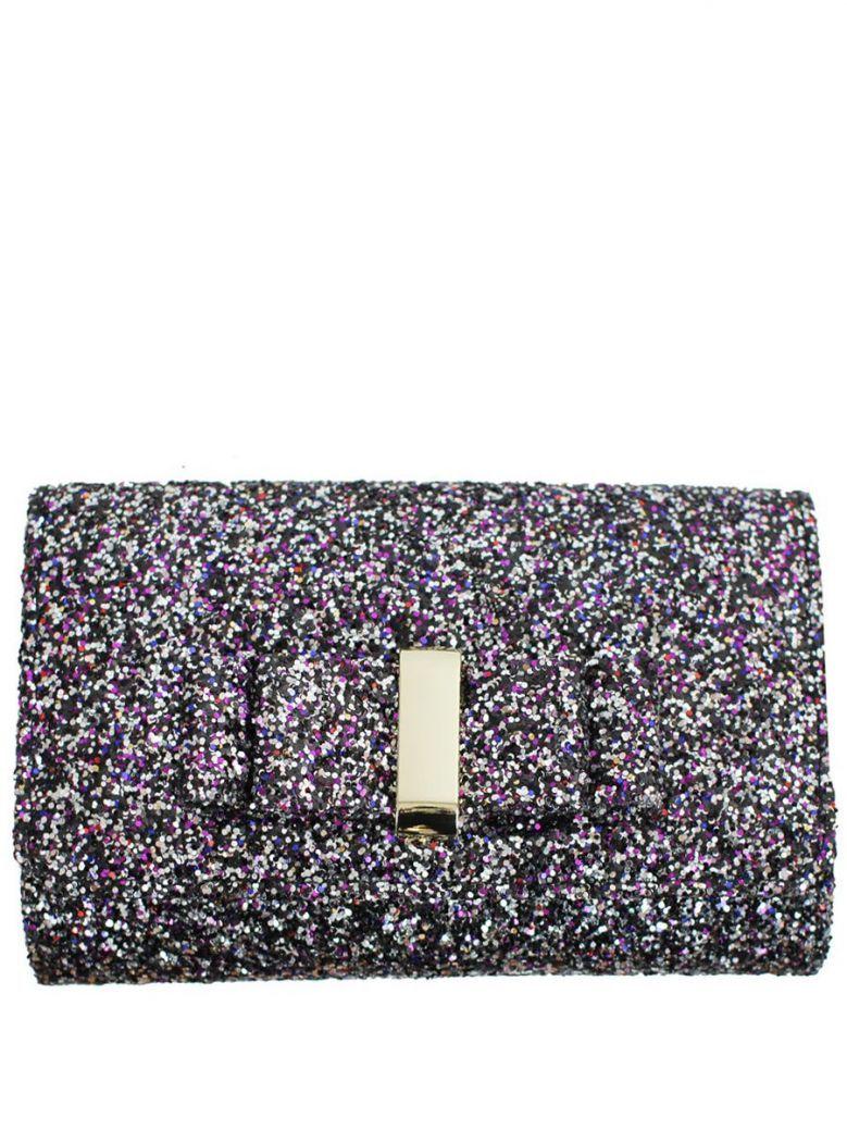 Mascara Black Glitter Clutch Bag