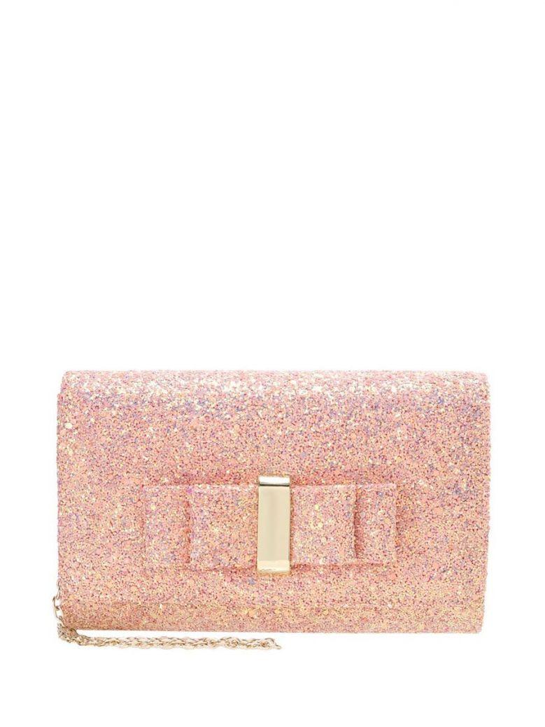 Mascara Pink Glitter Clutch Bag