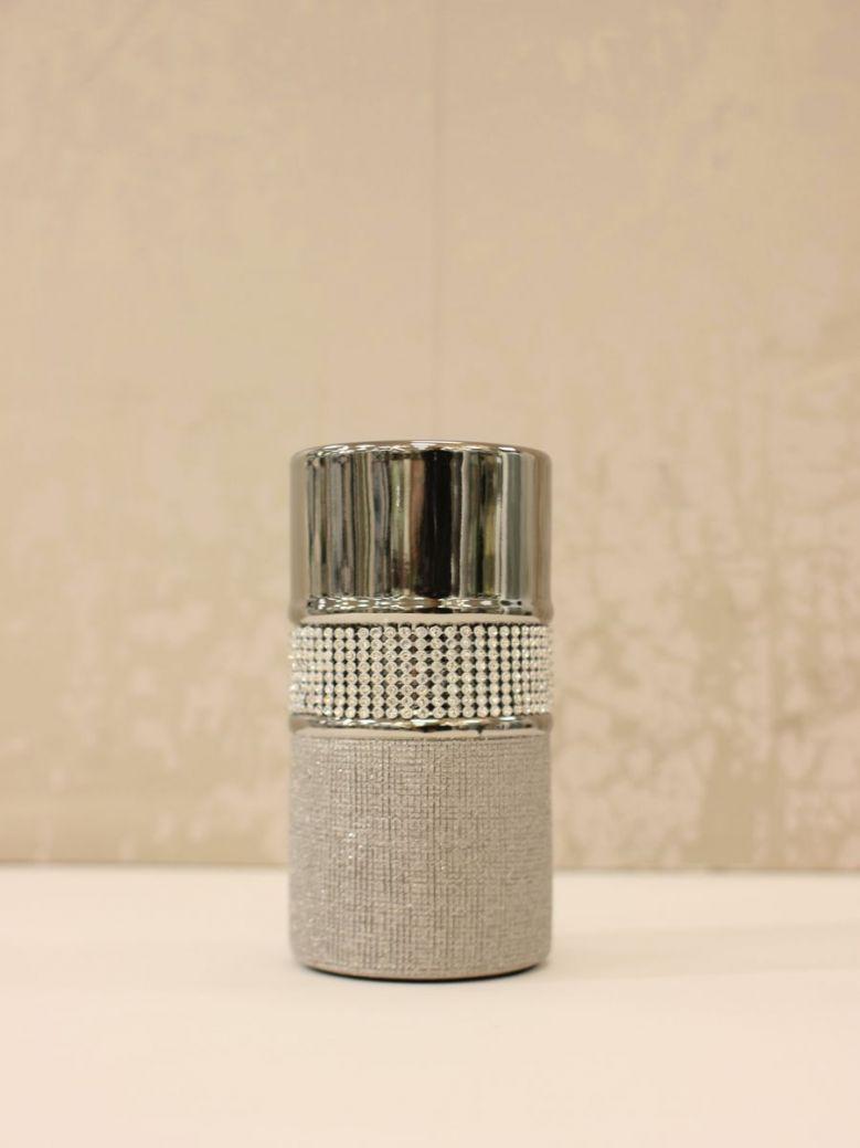 Medium 15cm Glitz And Silver Tealight Holder