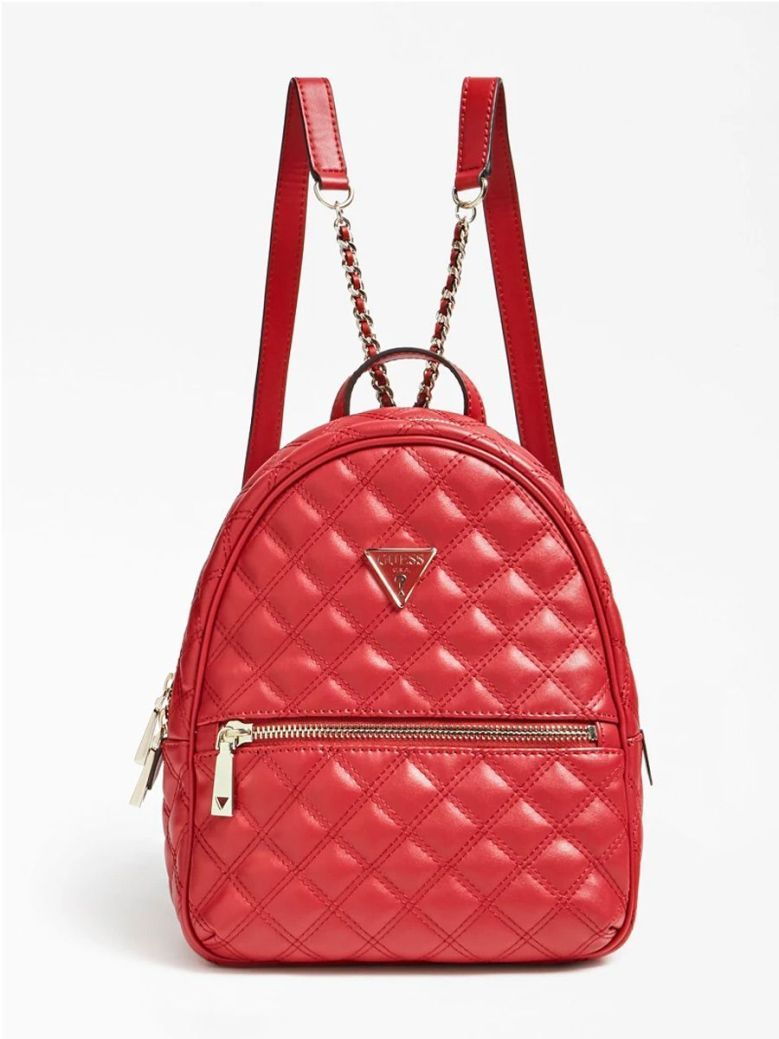 Guess Cessily Quilted Backpack Red