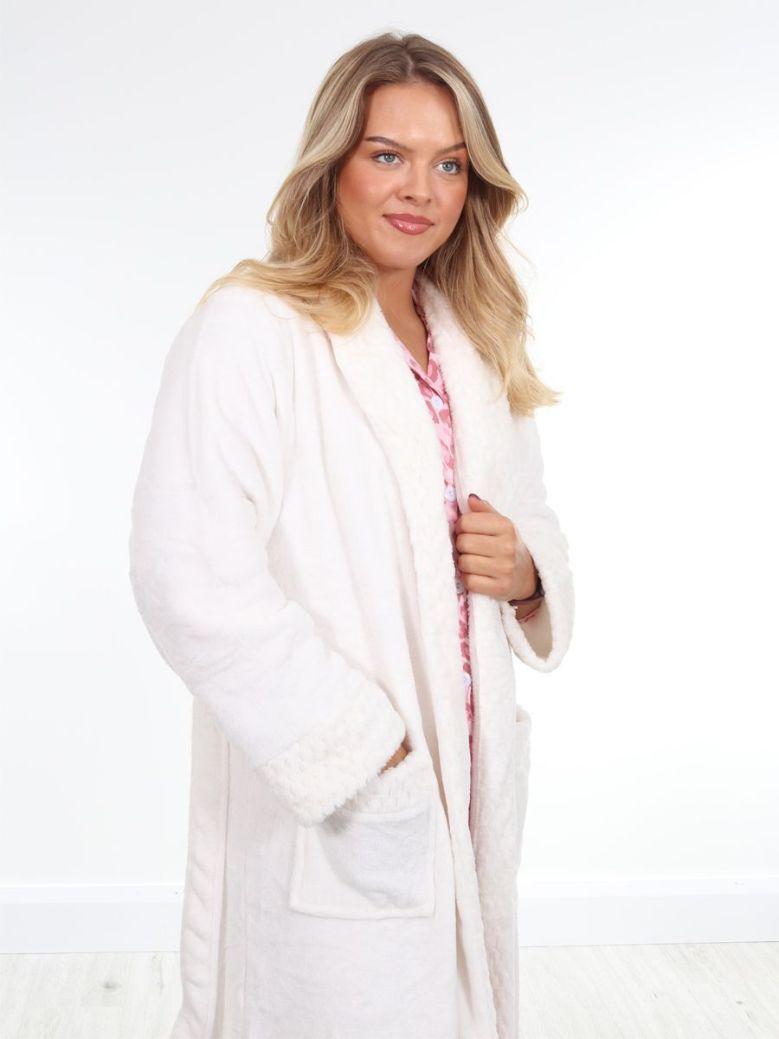 Cilento Woman Supersoft Cosy Robe Cream
