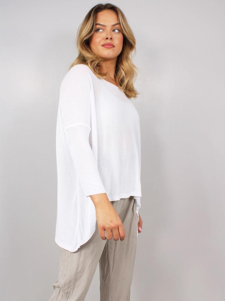Cilento Women Fine Knit Top White