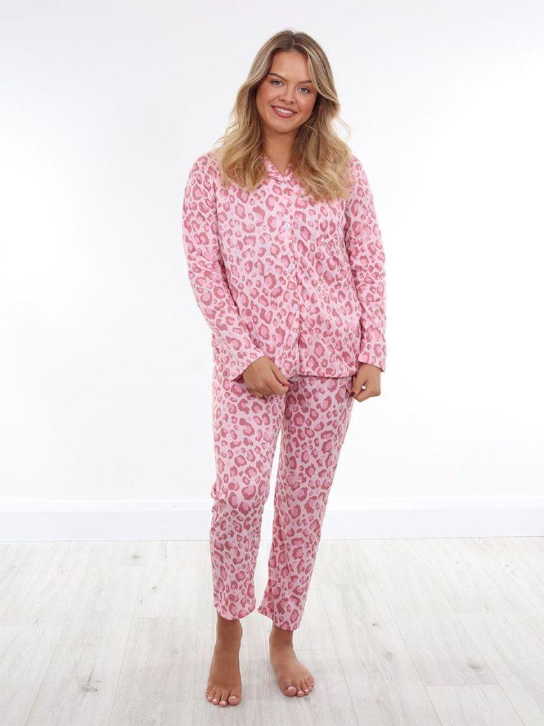 Cilento Women Leopard Print Pyjama Pink