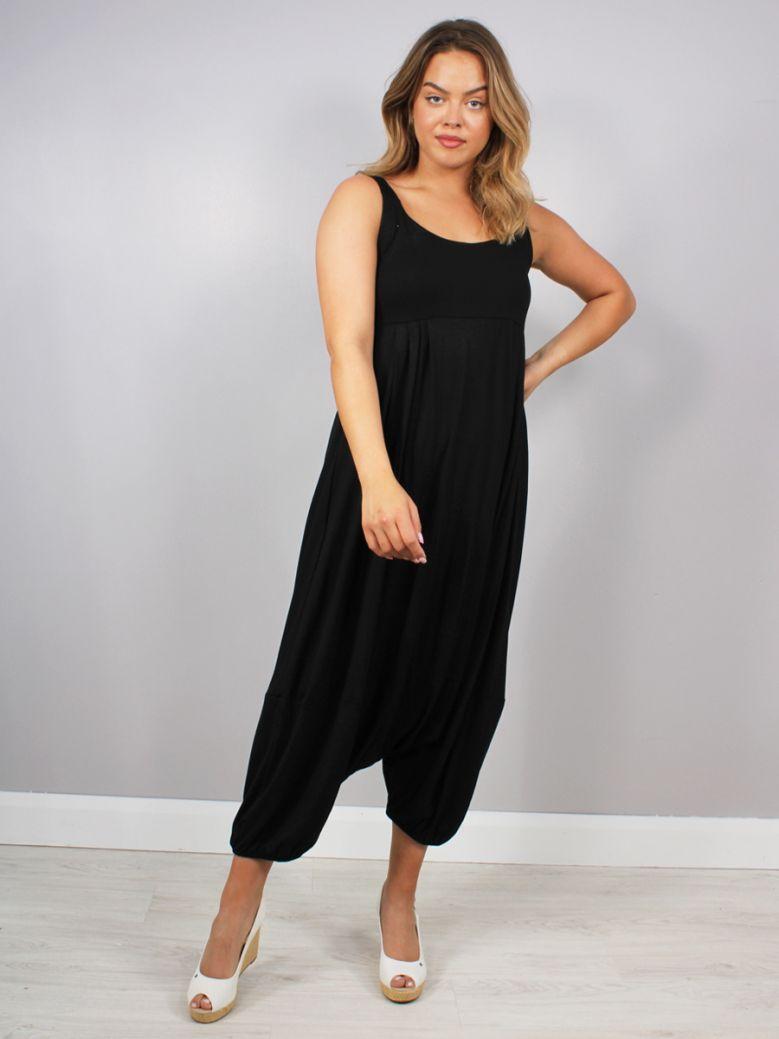 Cilento Women Wide Leg Jumpsuit Black