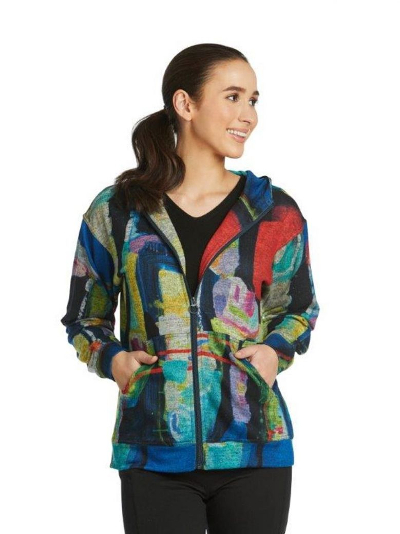 Claire Desjardins Work It Out Hooded Jacket Multi