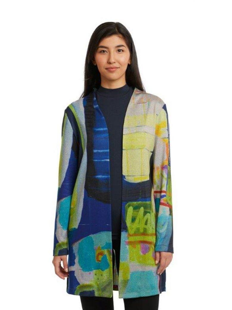 Claire Desjardins Work It Out Long Knit Cardigan Multi