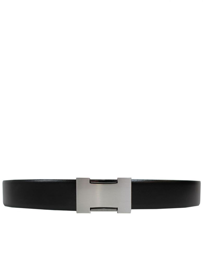 Dario Beltran Black Leather Belt