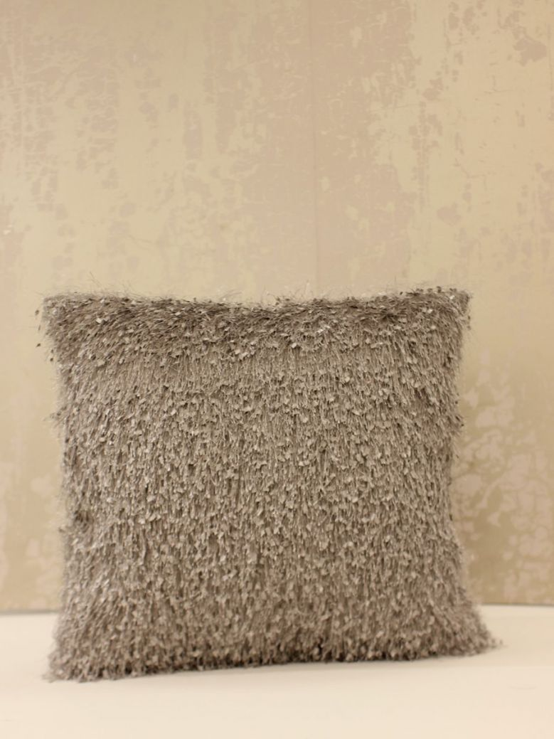45 X 45 Grey Feather Cushion