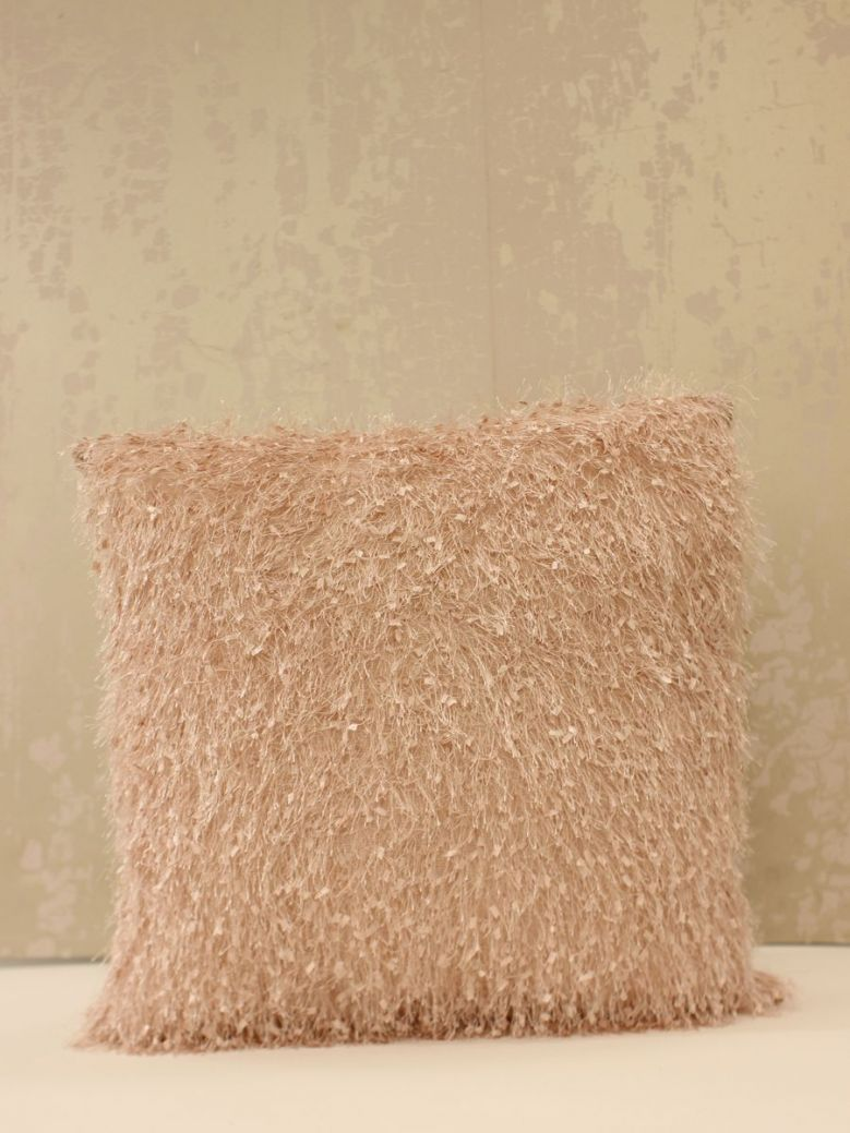 45 X 45 Pink Feather Cushion