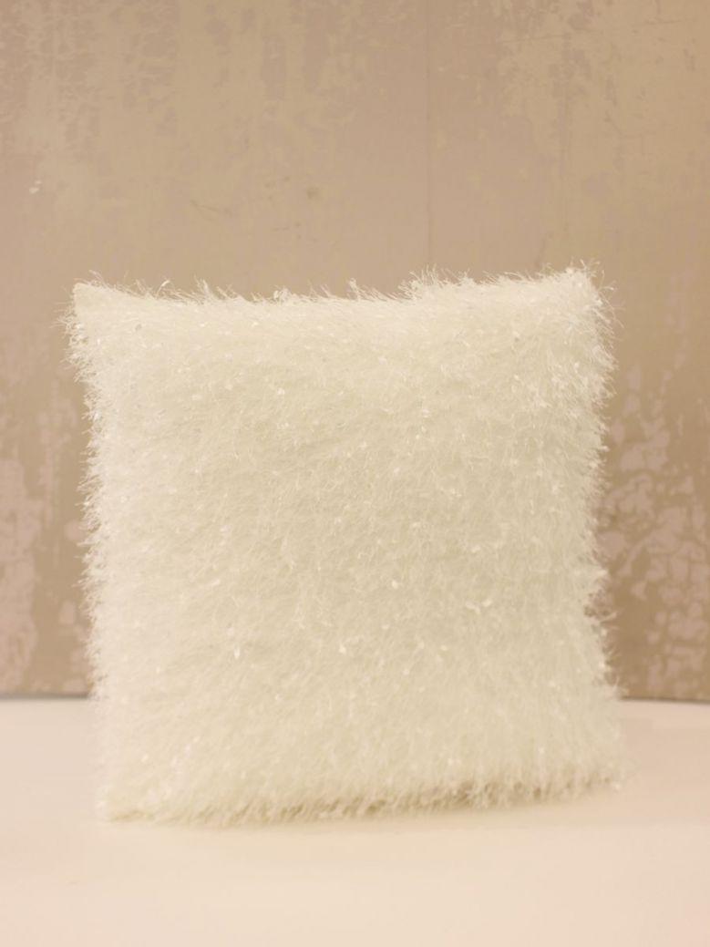 45 X 45 White Feather Cushion