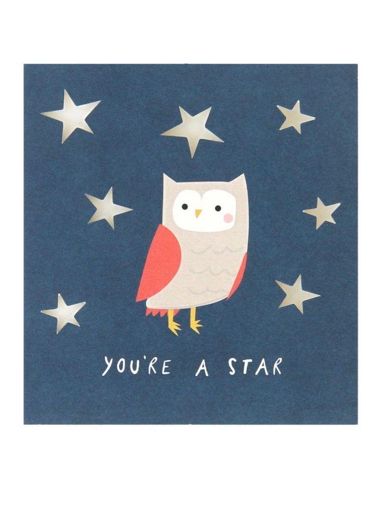 Caroline Gardner Owl Cut Out Congratulations Card