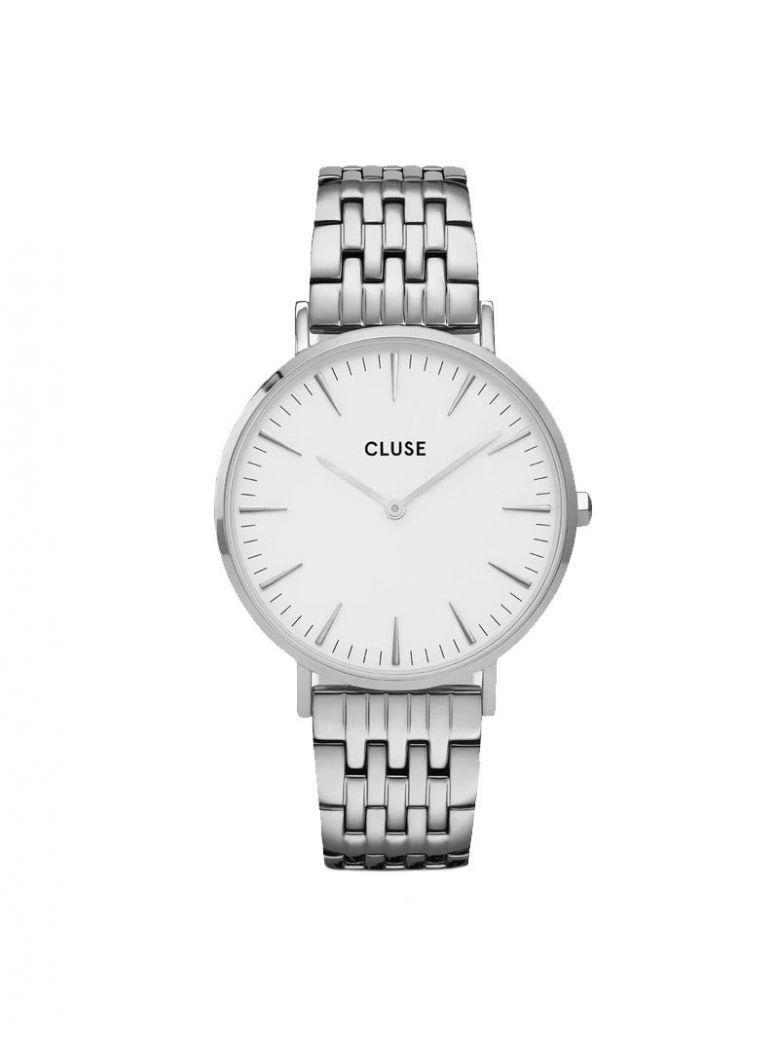 Cluse White/Silver La Bohème Multi-Link Watch