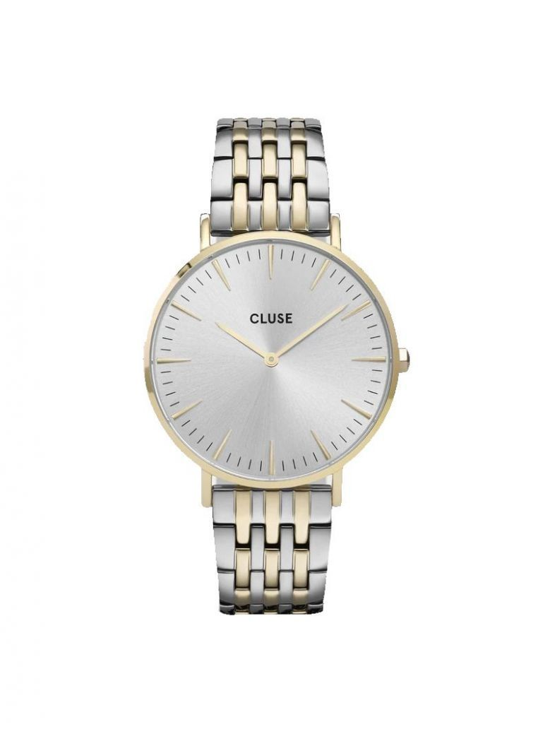 Cluse Silver/Gold La Bohème Multi-Link Watch