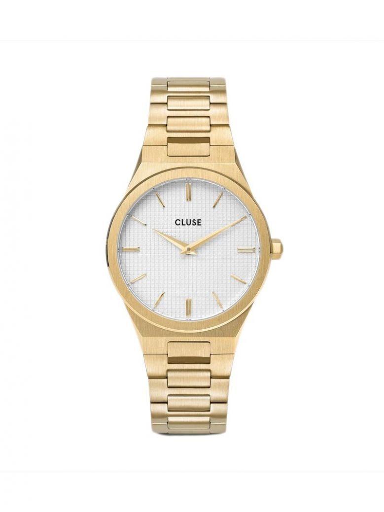 Cluse Snow White/Gold Vigoureux H-Link Watch