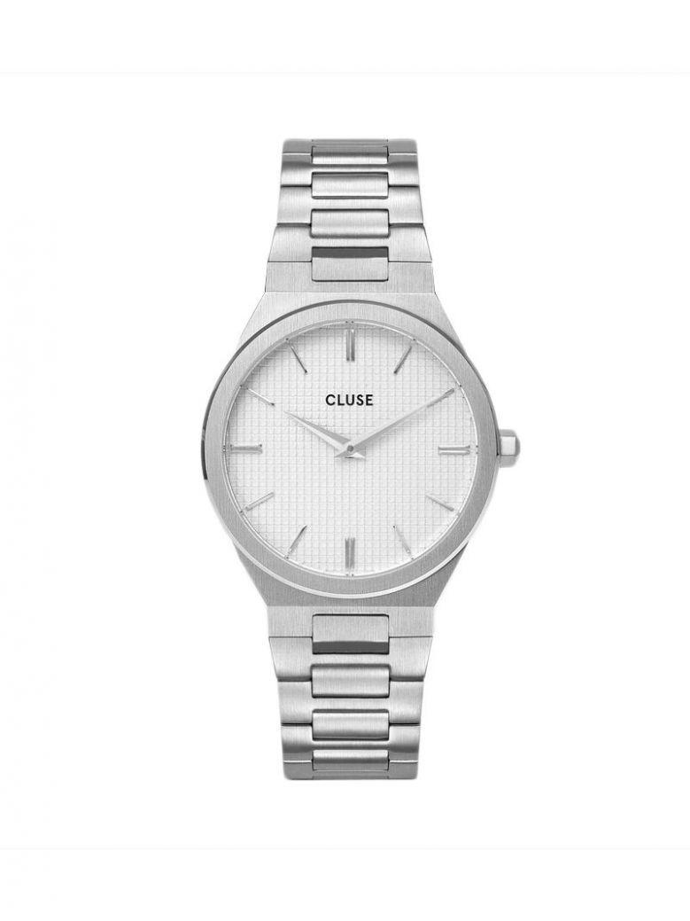 Cluse Snow White/Silver Vigoureux H-Link Watch
