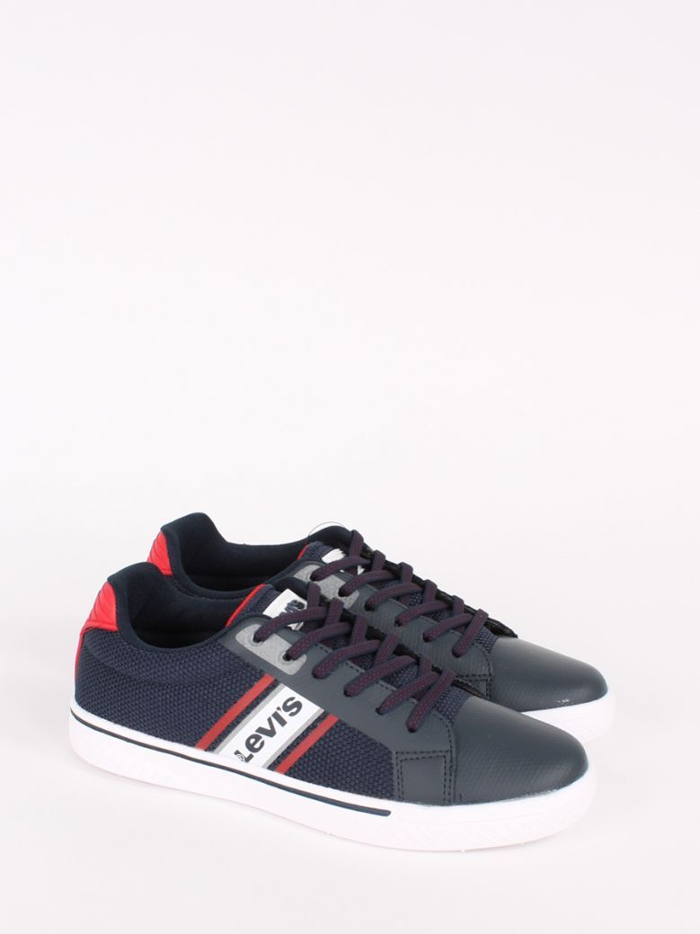 Levis Kids Navy Red Super Light Trainers