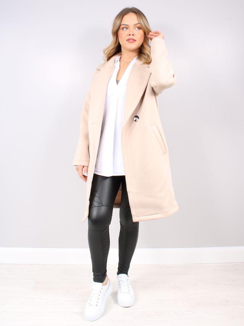 Rino & Pelle Desert Scuba Jersey Coat