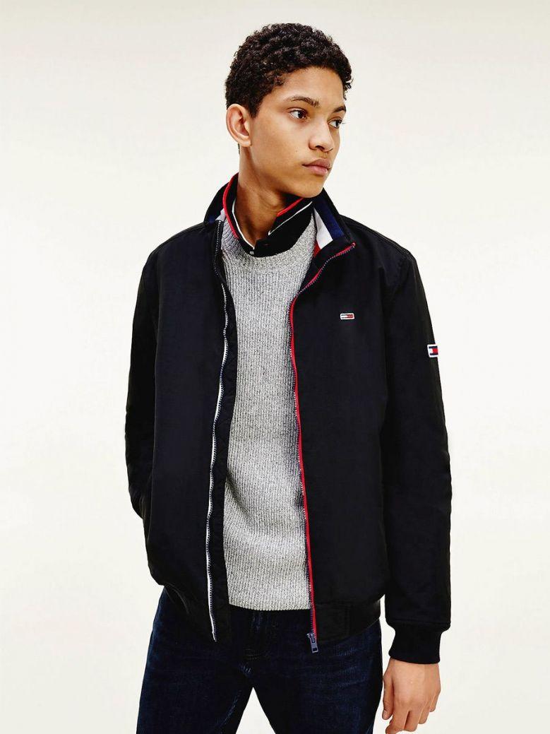 Tommy Jeans Mens Black Essential Padded Jacket