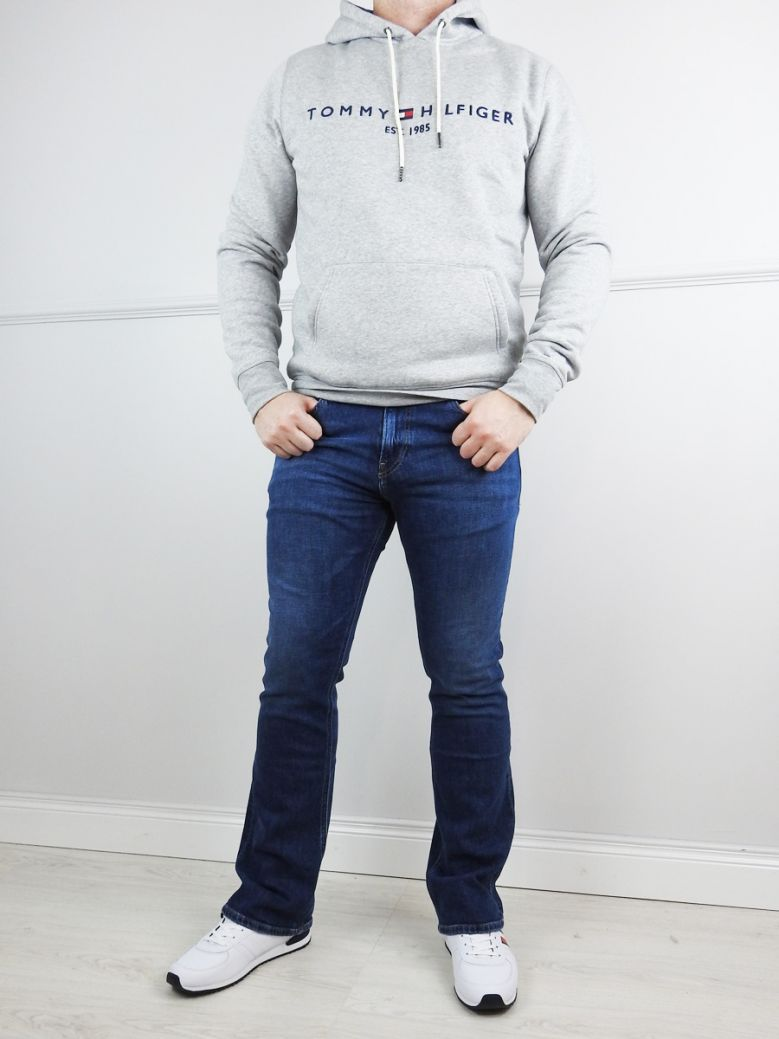Tommy Jeans Mens Dark Blue Comfort Ryan Relaxed Bootcut Jeans