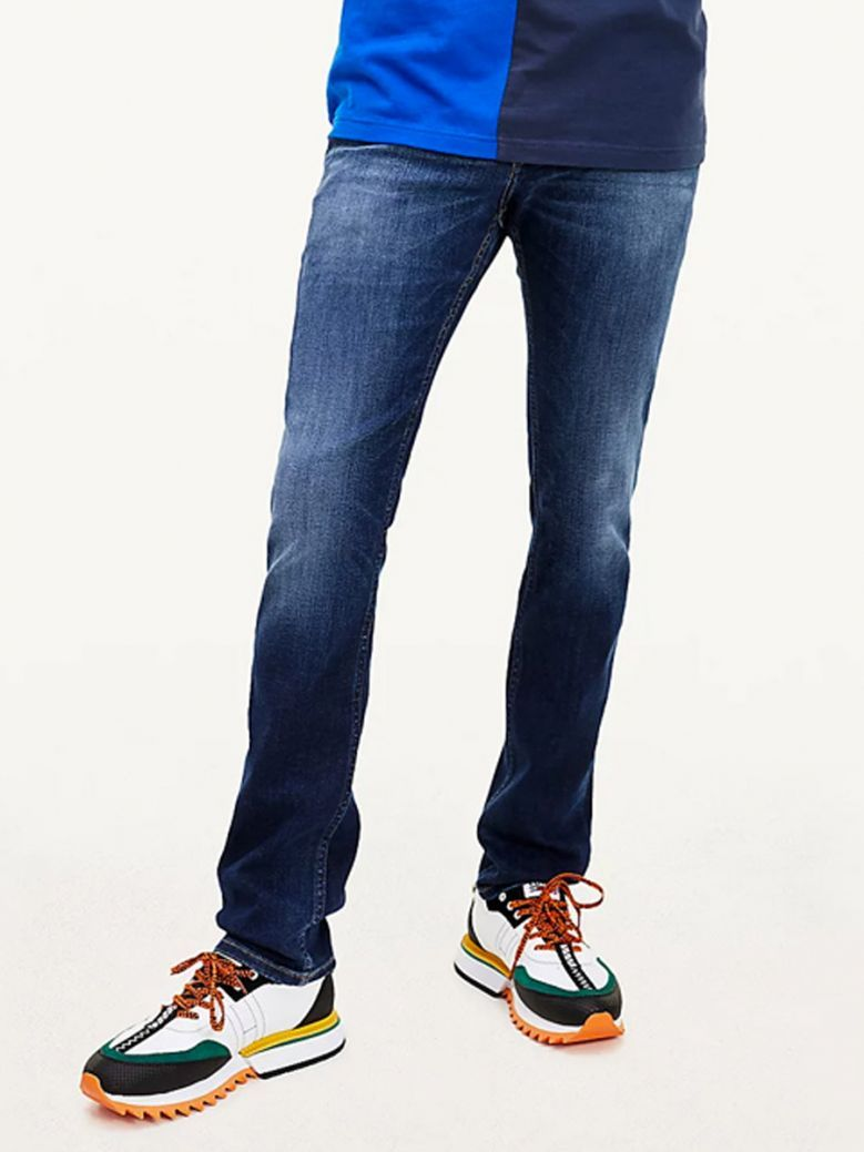 Tommy Jeans Mens Scanton Slim Faded Recycled Cotton Jeans