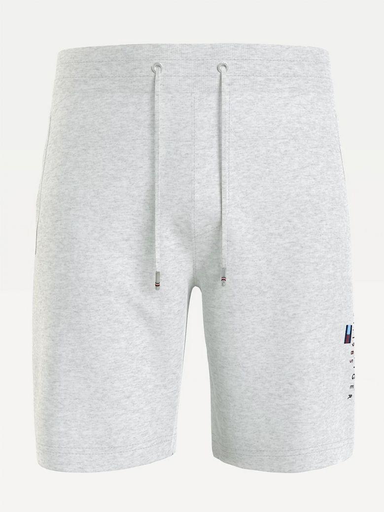 Tommy Hilfiger Mens Medium Grey Heather Essential Organic Cotton Sweat Shorts