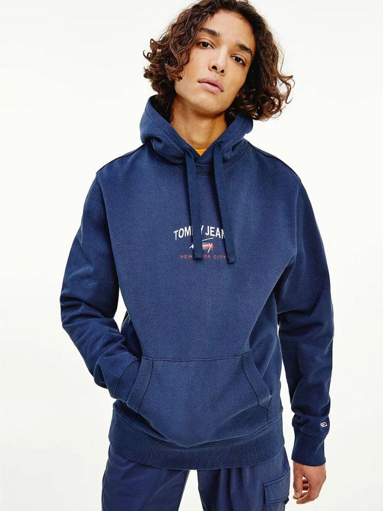 Tommy Jeans Men Twilight Navy Timeless Organic Cotton Hoody