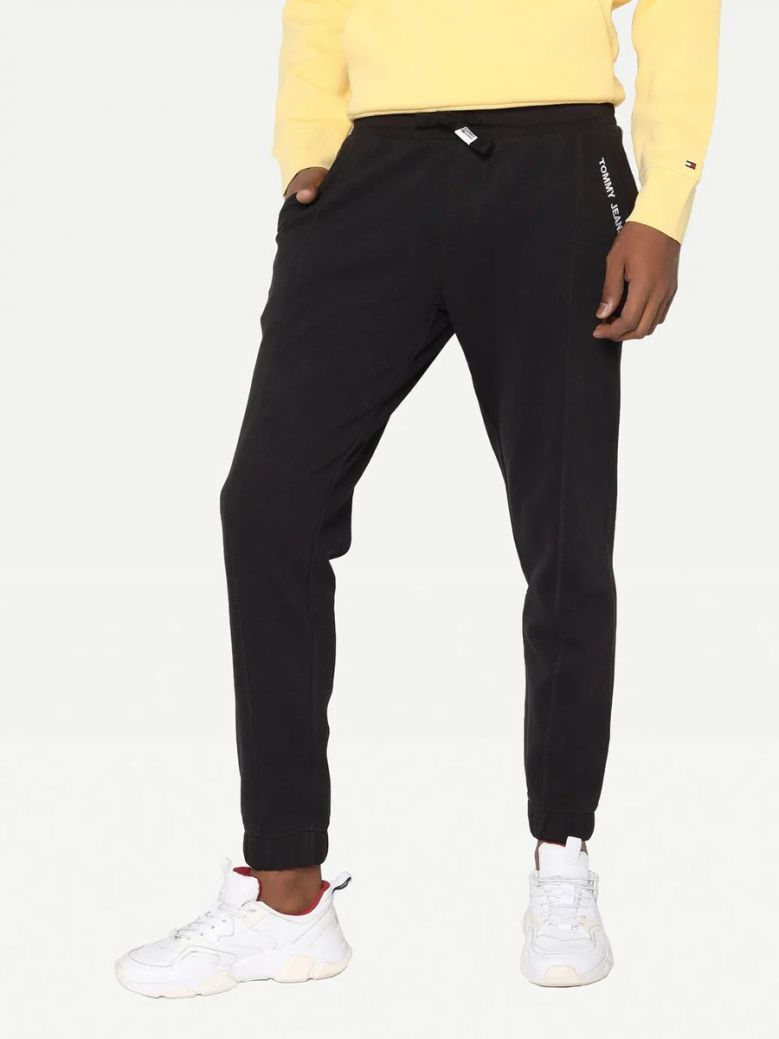 Tommy Jeans Mens Black Scanton Cut Casual Joggers