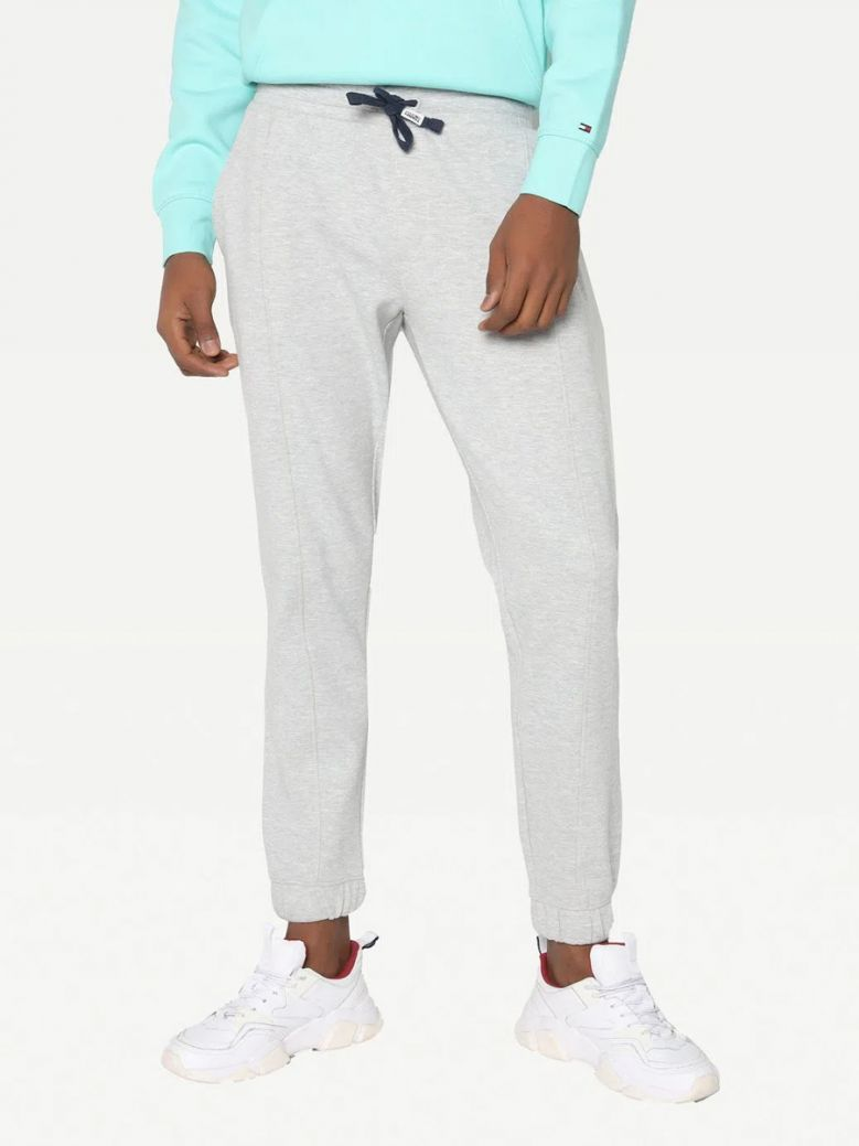 Tommy Jeans Mens Grey Scanton Cut Casual Joggers