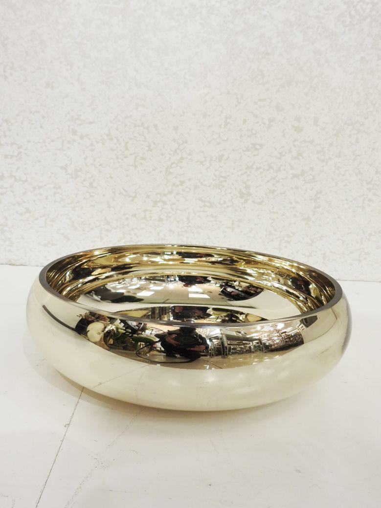 Gold Flat Glass Bowl