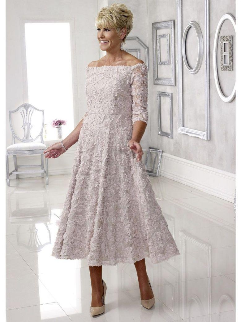 Dress Code Lace Floral Applique Dress, Dusky Pink, Style DC105D