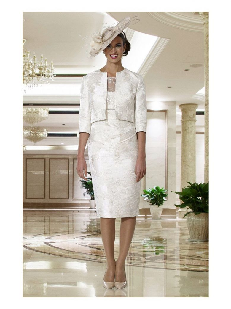 Dress Code Dress and Bolero Set, Pale Gold, Style DC131D