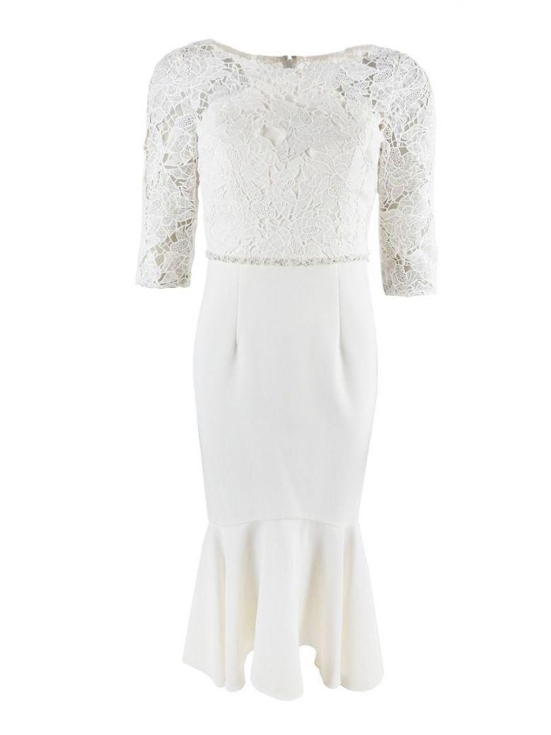 Dress Code Lace Diamond Detail Dress, Ivory, Style DC135D