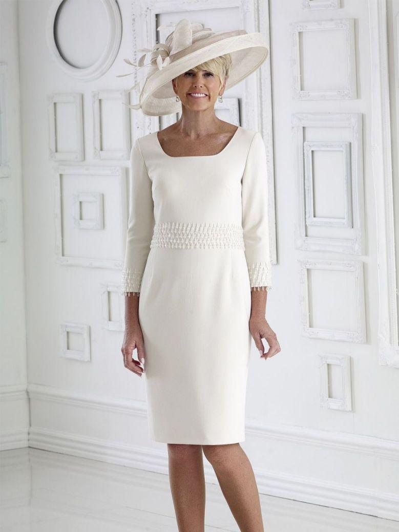 Dress Code Beaded Dress, Cream, Style DC348S