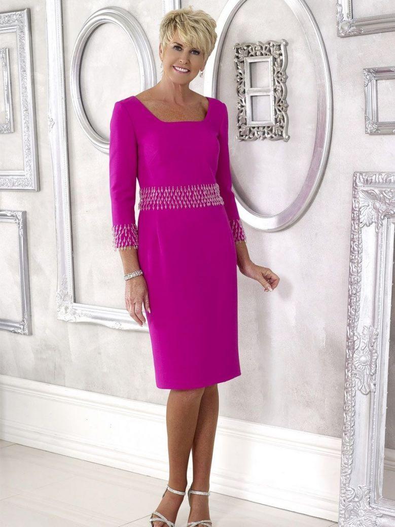 Dress Code Beaded Dress, Fuchsia, Style DC383S