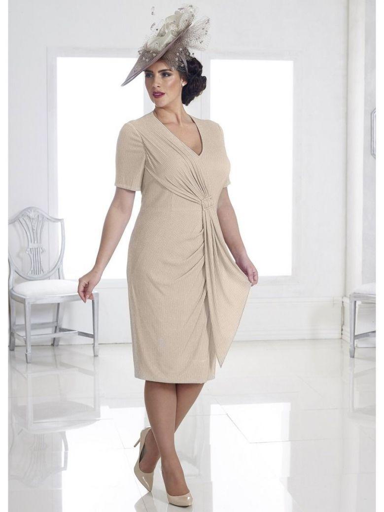 Dressed Up Dress And Jacket Set, Nude, Style DU311