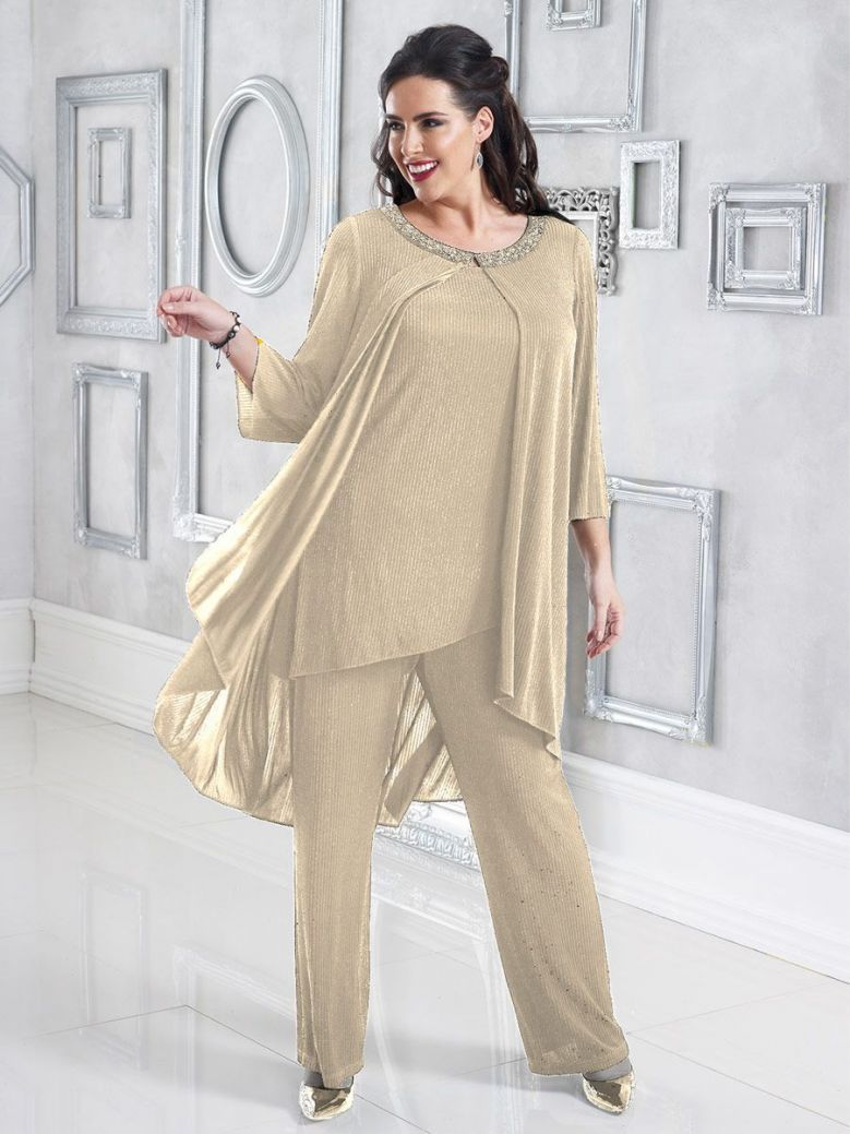 Dressed Up Top And Trouser Set, Nude, Style DU313