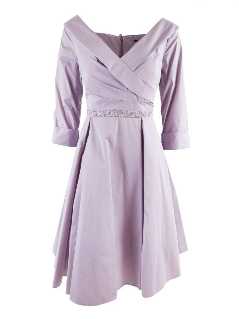 Dressed Up Wrap Detail V-Neck Dress, Pale Lavender, Style DU343