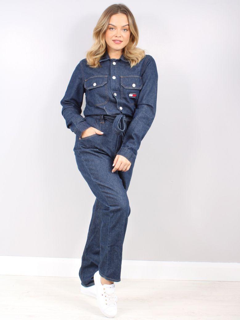 Tommy Jeans Ladies Utility Denim Mom Jumpsuit