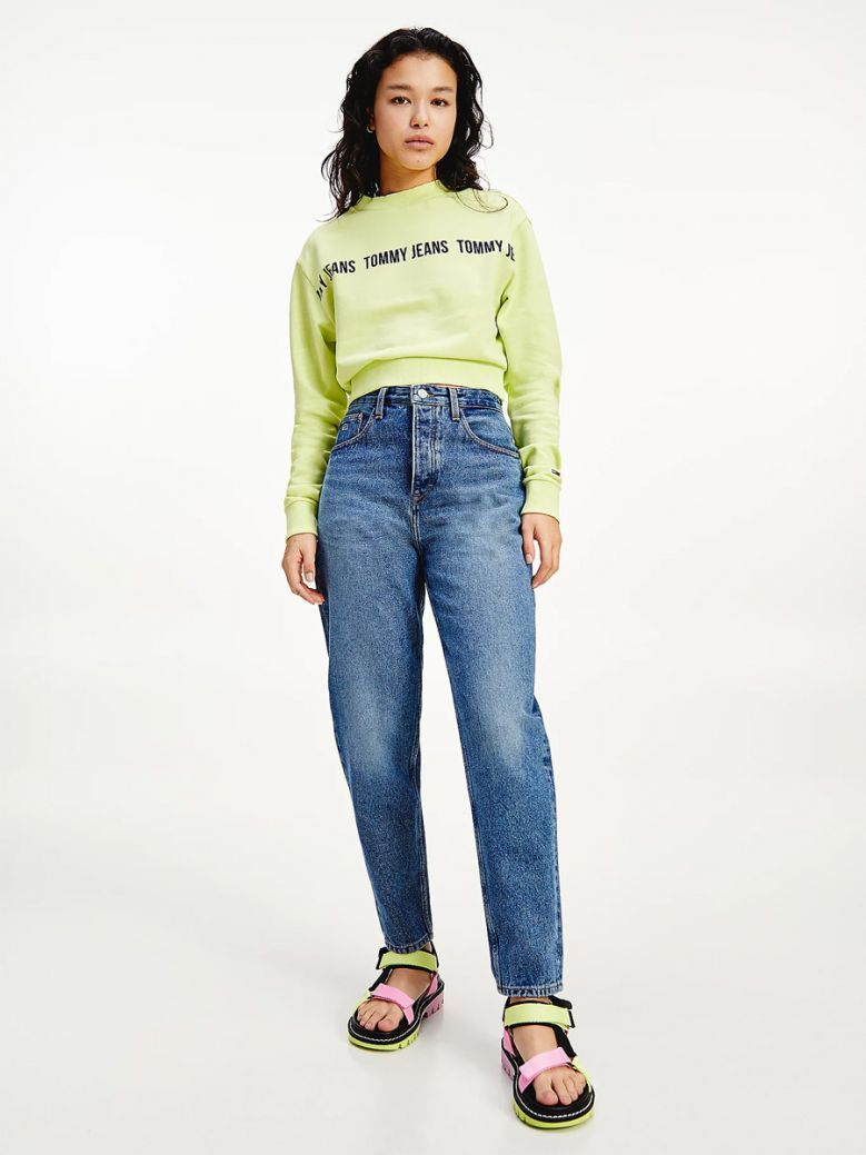 Tommy Jeans Ladies Mom Ultra High Rise Tapered Jeans