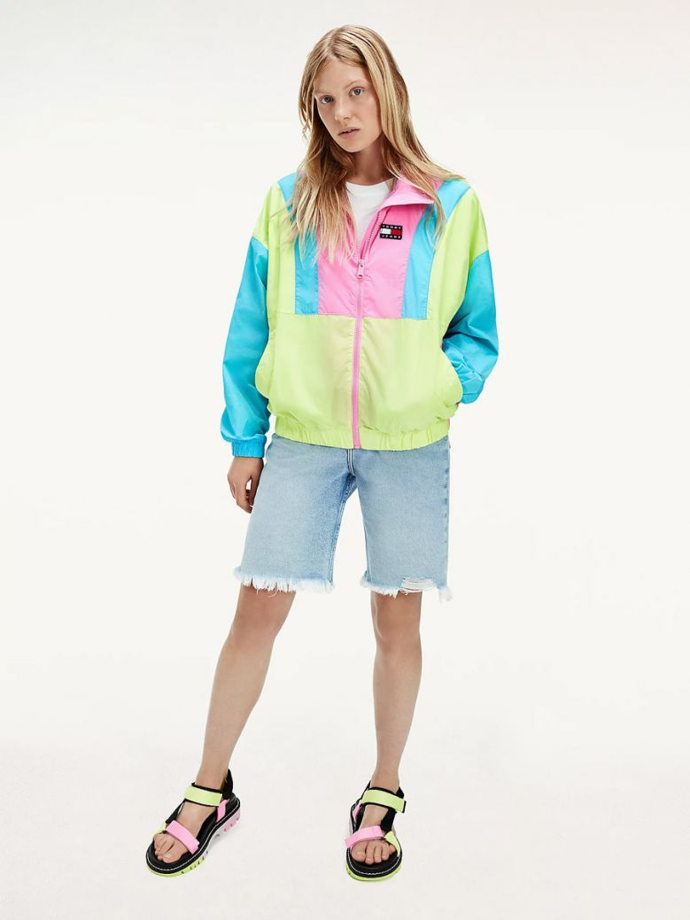 Tommy Jeans Ladies Colour-Blocked Tommy Badge Windbreaker