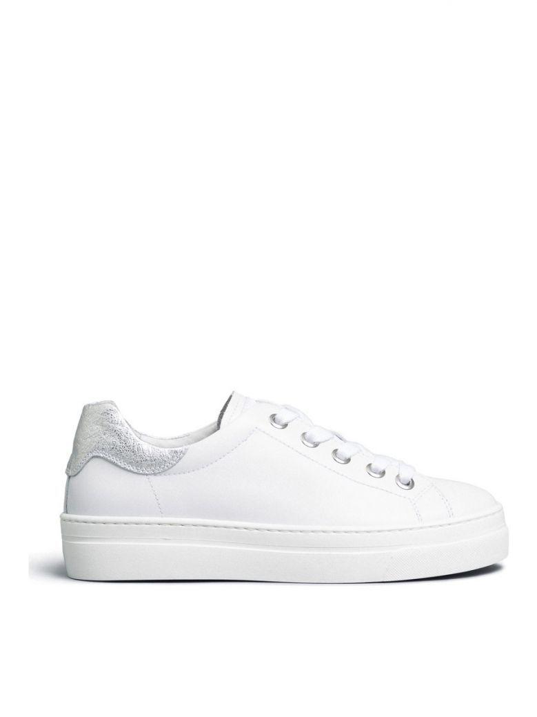 Nero Giardini White Plain Lace Up Trainers