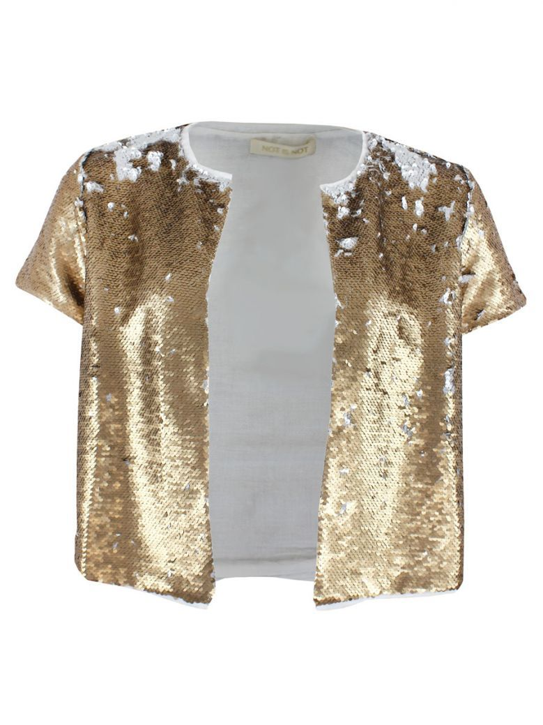 Not Is Not Gold Sequin Detail Jacket